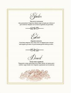 36 wedding menu templates free sample example format With create a menu template free