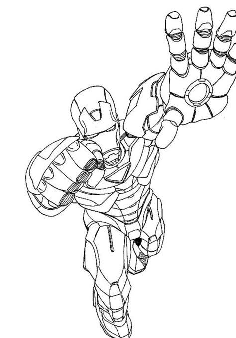 avengers iron man colouring pages coloring home