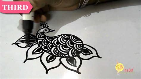 henna mehndi design tattoo technique iii peacock youtube