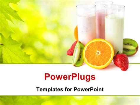 powerpoint template healthy eating concept