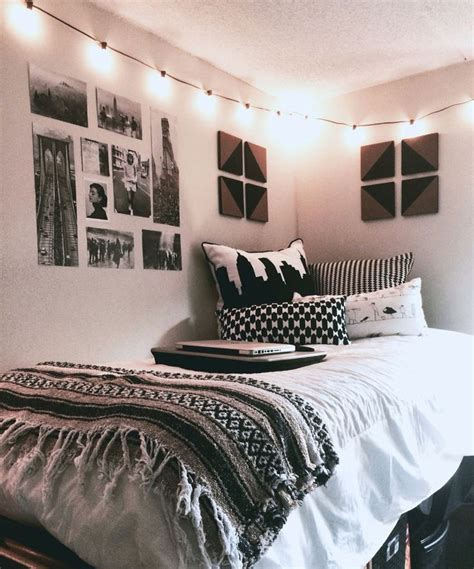 black and white bright lights cozy spaces