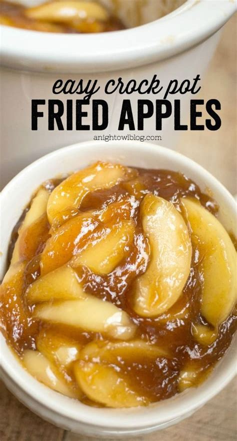 easy crock pot dishes easy crock pot fried apples recipe thanksgiving thanksgiving sides and dishes