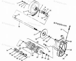 Polaris Snowmobile 1995 Oem Parts Diagram For Drive Train Assembly Xlt 0950756  Xlt Sks   Xlt