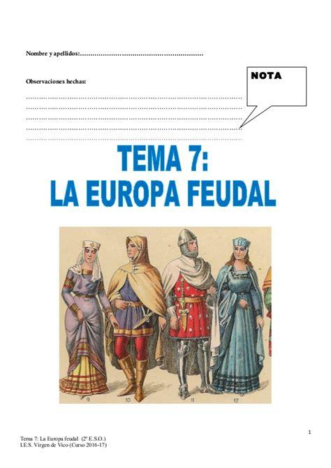 tema  la europa feudal