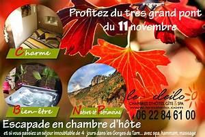 vacances toussaint et 11 novembre location chambre d39hotes With chambre d hotes dans les gorges du tarn