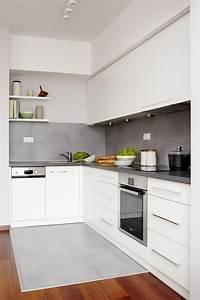 Graue Fliesen Küche : farbgestaltung kueche ideen weisse schraenke matt graue fliesen k ckenr ckwand pinterest ~ Sanjose-hotels-ca.com Haus und Dekorationen