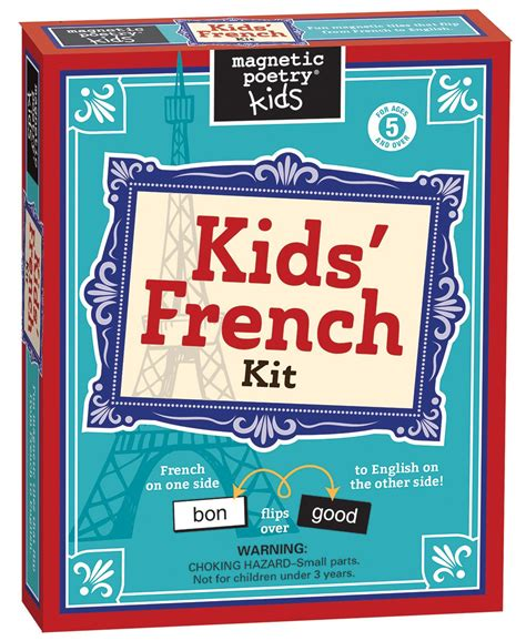 kids french kit magneticpoetrycom