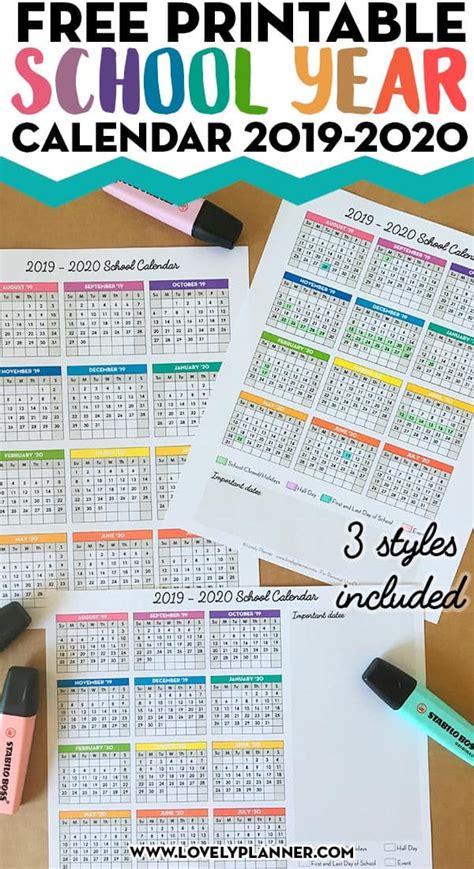printable    page school calendar