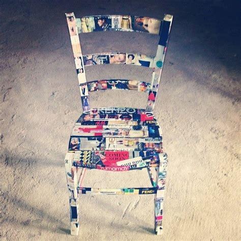 decoupage sedie rivisitazione sedia di legno con decoupage di ritagli di