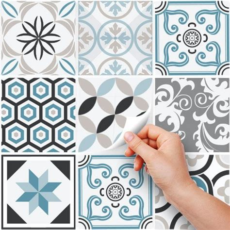 stickers carreaux cuisine ps00054 pvc autocollants carreaux pour salle de bains et