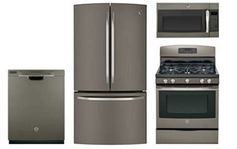 GE Slate French Door Refrigerator with Gas Range   Abt.com