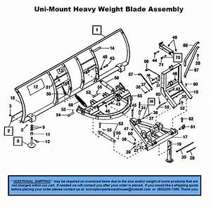 Heavyweight - Uni-mount Plows - Part Diagrams