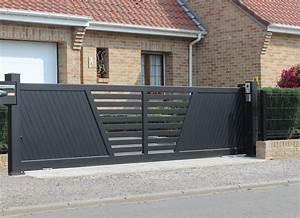 Portail En Aluminium : marcilly portail aluminium sur mesure europortail ~ Melissatoandfro.com Idées de Décoration
