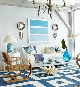 14 great beach themed living room ideas decoholic for Coastal themed living rooms