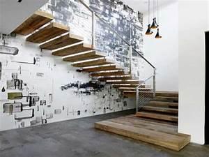 mur deco street art pour sublimer la cage d39escalier With peindre des marches d escalier en bois 15 cage descalier 20 idees deco pour un bel escalier