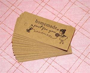 25 homemade just for you kraft tags gift tags gift With handmade for you labels