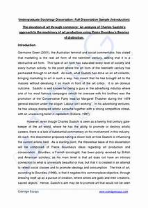 Dissertation Structure Template Cultural Competence Essay