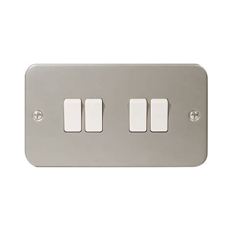 Electrical Metalclad Plate Switch Gang Way