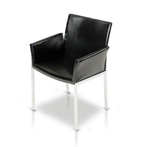 delphi modern black eco leather dining chair