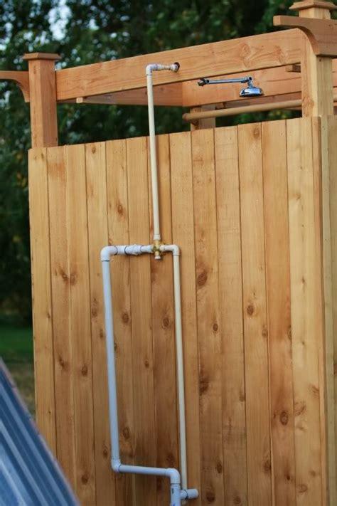 Diy Solar Outdoor Shower Home Design Garden