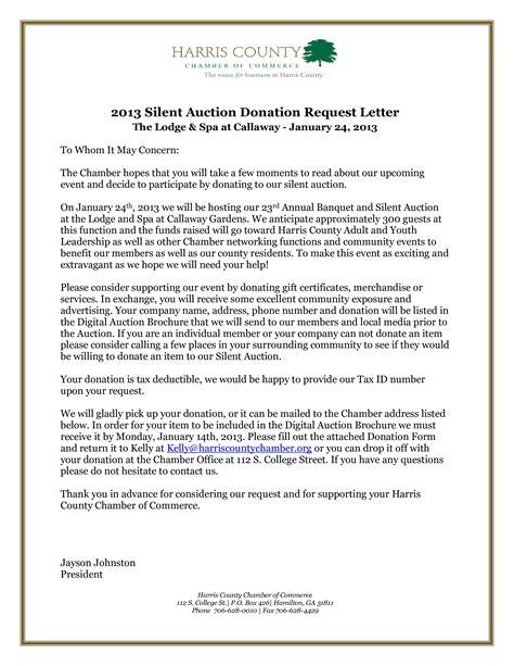 silent auction donation request letter  templates