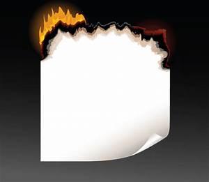 Set of burning paper vector art Free vector in ...