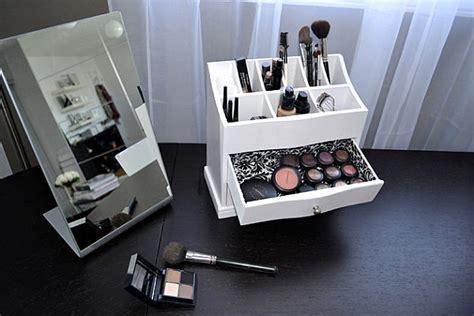 makeup organizer ideas   tidy display  beauty