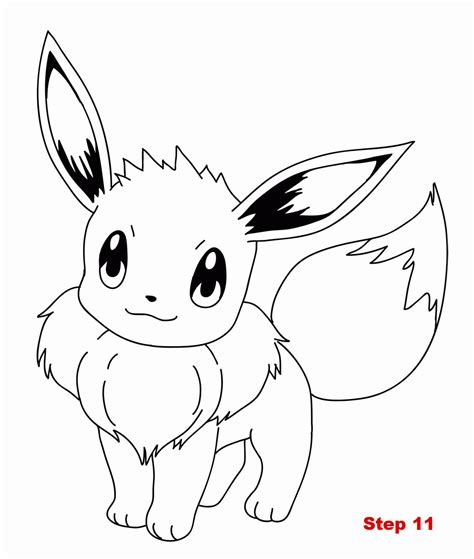 eevee coloring pages coloring pages eevee evolutions coloring home