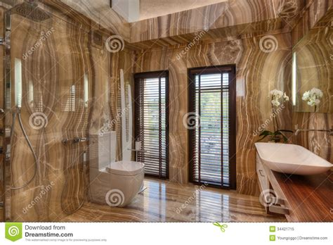 marble bathroom  modern house stock image image