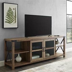Welwick, Designs, 70, In, Reclaimed, Barnwood, Composite, Tv, Stand, Fits, Tvs, Up, To, 78, In, With, Storage