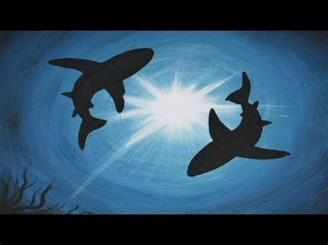 acrylic painting  canvas shark infestation youtube