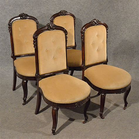 antique upholstered dining chairs quality set of 4