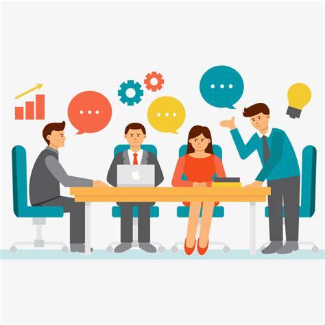 14434 business meeting clipart vector business meeting scenario elements vector