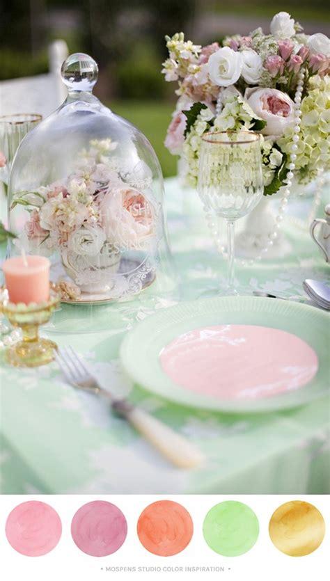 mint green peach light pink  gold wedding party