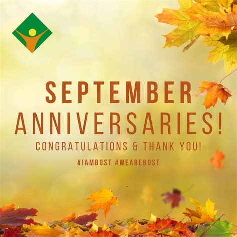September Anniversaries! • Bost, Inc • Serving Individuals with Developmental Disabilities