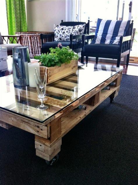 la table basse palette  idees creatives pour la