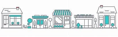 Shops Row Clipart Clip Marketing Kit Hundred