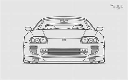 Supra Mk4 Toyota Draw Sogo Drawings Garage