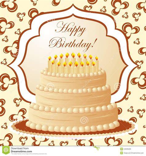 birthday cake gift card stock photo image