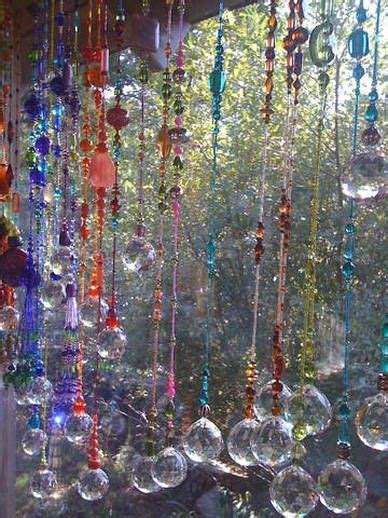 Hanging beaded crystal suncatchers ~ made with the Bead