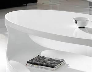 Table Ovale Design : table de salon ovale blanc laqu design pori ~ Teatrodelosmanantiales.com Idées de Décoration