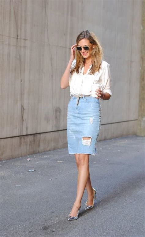 16 Fresh Ways To Wear A Denim Skirt   more.com