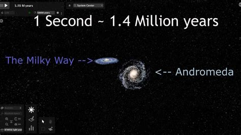 Universe Sandbox Galaxies Collision Simulation