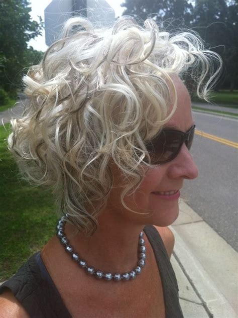 classic curly bob hairstyle image ideas  older women