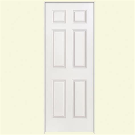 6 panel interior doors masonite 28 in x 80 in smooth 6 panel hollow primed
