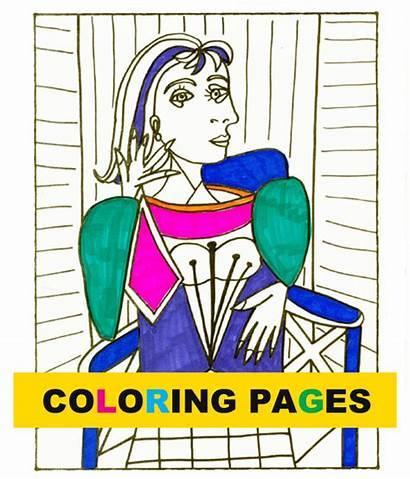 Picasso Bundle Coloring Pages Space Deep Artist