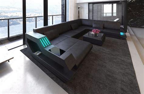 modern sofa rotterdam xl  shape inclled usb port