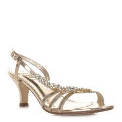 gold shoes wedding womens low heel gold flower diamante slingback prom wedding shoes size 3 8 ebay