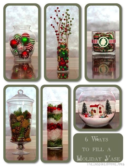 christmas vases ideas  pinterest christmas