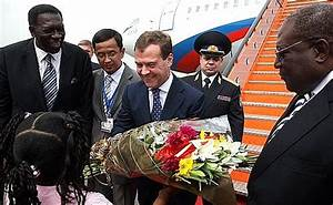 Dmitry Medvedev has made an official visit to Angola ...